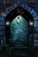 Entryway to forest background FGM by FairieGoodMother