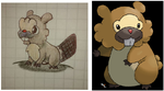 Altered Bidoof for JustinNuggets' Pokemon contest by Caos-Cepi