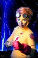 Kid Flash: Lightning by Gixye