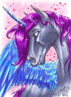 Midnight ACEO by FluffyAri