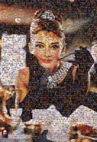 Breakfast At Tiffany's Mosaic by DolfD