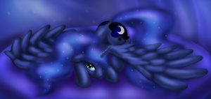 Luna at Rest by Zedrin