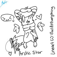 Arctic Star Lineart by iFailAtEverything