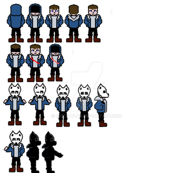 Wolfie (erik) wip overworld with and without mask by Eriktayl0r