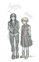 SnK: Fem!Jean and Fem!Armin by AiniBluebell