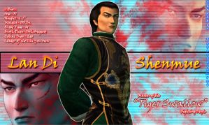 "shenmue Lan Di ""Tiger Swallow"" by Ldrakken"