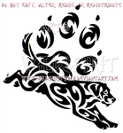 Labrador And Paw Print Tribal Design by WildSpiritWolf