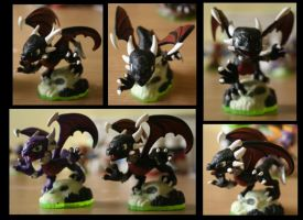 Cynder Skylanders Repaint - Detail by blackphantom1412
