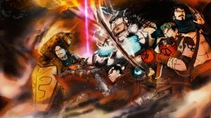 League of Legends - Team Fight by SilverPencilBOX