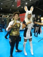 MCM Telford 2014 - Fran and Balthier by MJ-Cosplay