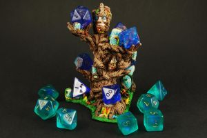 Wooden Dice Altar Painted by RistulsMarket