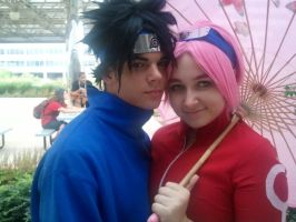 SasuSaku cosplay by SlipknotPrincess