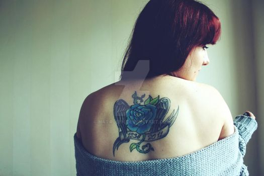 Girl with tattoo 01 by nataleen