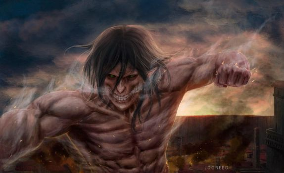 titan on attack (eren) by JDgreed18