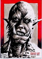Orc Sketch card by dsilvabarred