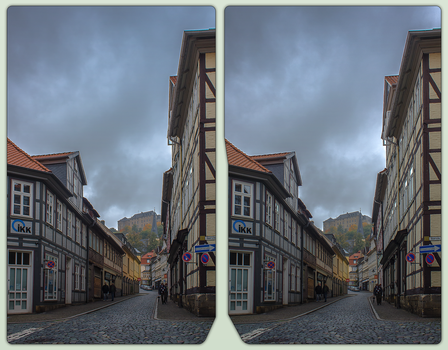 Blankenburg town 3-D / CrossView / Stereoscopy by zour