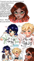 Adrienette: Couple T-shirts by PatchedUpArtist