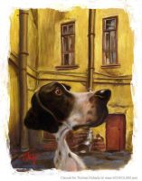 Alley dog by tomfluharty