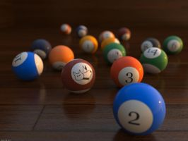 Billiard set by batjorge