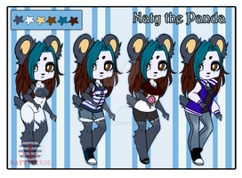 REF Fursona - Naty the Panda by Zombiezul