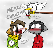 Seagulls Love Mistletoe - for Ivan by Mister-Saturn