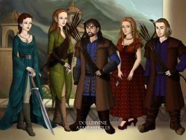 Kili and Tauriel's family by cari28ch3