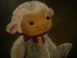 Baby Lamb Portrait detail by MelodicInterval
