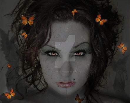 Fantasy Eyes and Butterflies by concettasdesigns