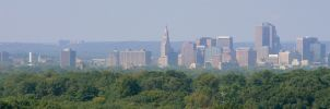 Hartford from Wickham Park by halley