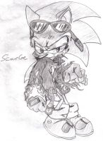 Scourge the evil hedgehog by Callihanclan