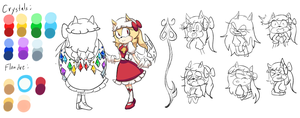 SonicXTouhou: Flandre Scarlet Reference by JustCatsy