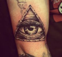 Ivan Black And Grey All Seeing Eye by HammersmithTattoo