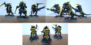 Tyranid Warriors by Jason-Alex-Young