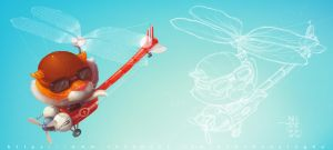 Dragon fly with pilot by BannHuaSingha