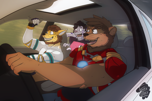 [COM] On the Road to ComiCon by FrostyPuppy
