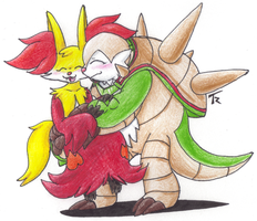 Delphox X Chesnaught by MotherGarchomp622