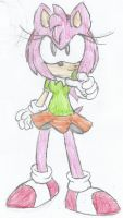 Amy being like Sonic (Colored) by Sonicdude645