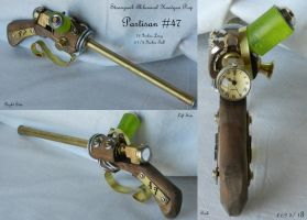 Steampunk Prop: Partisan #47 Alchemical Handgun by Sathiest-Emperor