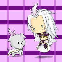 Kuja and a Puppy by KingdomOfLight1
