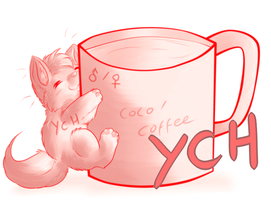 your character here- coffee/coco mug by Lightnymfa