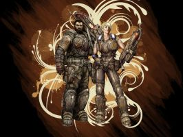 Gears of War Anya and dom by PhoenixRising23