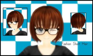 MMD-Fashion Short Hair DL U V U by iinoone