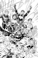 Justice League New DC inks by Inhuman00
