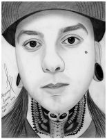 Tony Perry from Pierce The Veil by BandaforLove