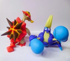 Tortunator Crabrawler Clay Pokemon Sun Pokemon