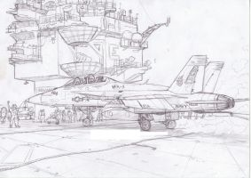 F18E Super Hornet by Bidass