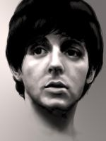 Paul McCartney 1964 by JennBredemeier