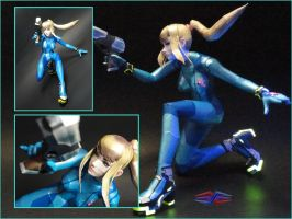 Zero Suit SSB4 papercraft (close-up) by BRSpidey