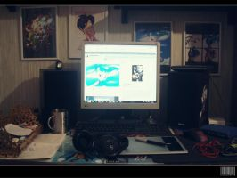 My work place (updated) by GodzillaJAPAN