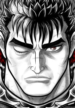 Guts Black and White by Thuddleston